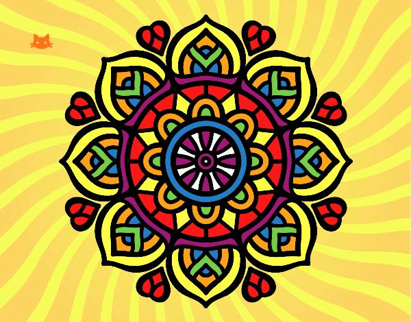Dibujo Mandala para la concentración mental pintado por Davinchi