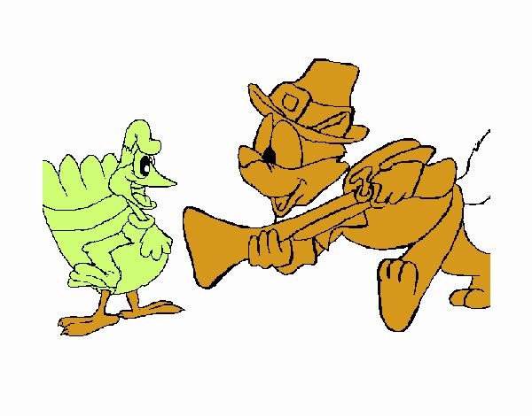 Peregrino y un pavo