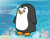 Dibujo Pingüino antártico pintado por camilavtt