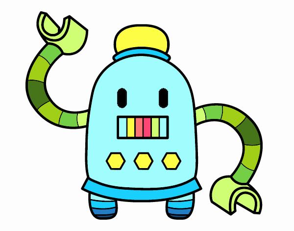 Robot con largos brazos