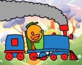 Tren con maquinista