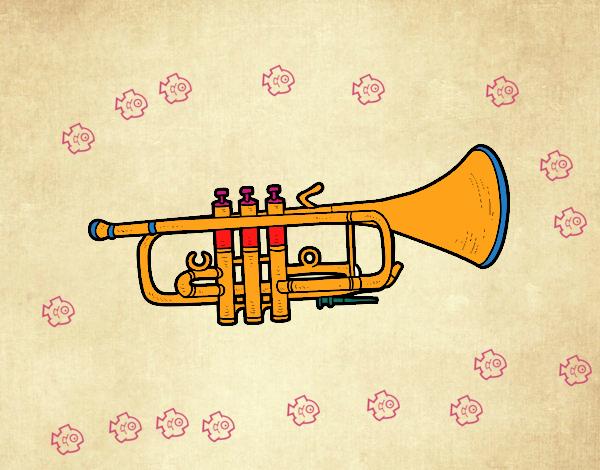 Dibujo Trompeta baja pintado por mendz