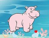 Un hipopótamo africano