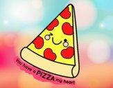 Dibujo You have a pizza my heart pintado por adrinette1