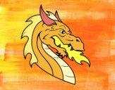 Dibujo Cabeza de dragón europeo pintado por rastais