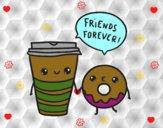 Café y donut