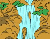 Dibujo Cascada pintado por sahian2007