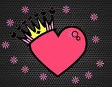 Corazón coronado