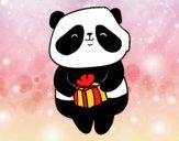 Panda con regalo