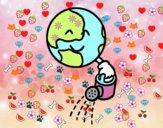 Planeta con regadera