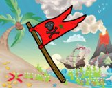 Una bandera pirata