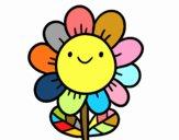 Una flor sonriente
