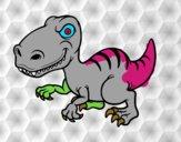 Dibujo Dinosaurio velociraptor pintado por JAVI77