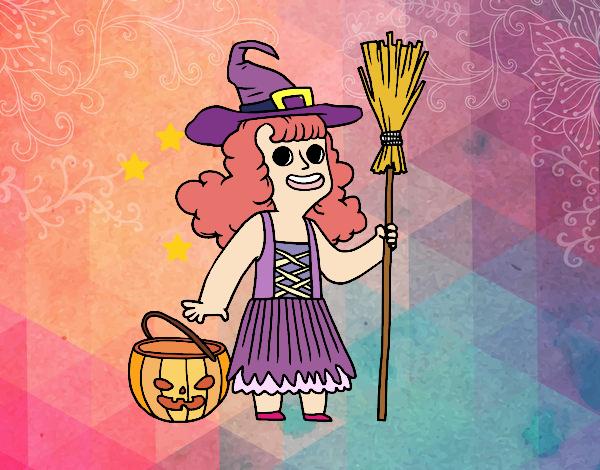 Disfraz de bruja de Halloween