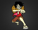 Luffy golpeando