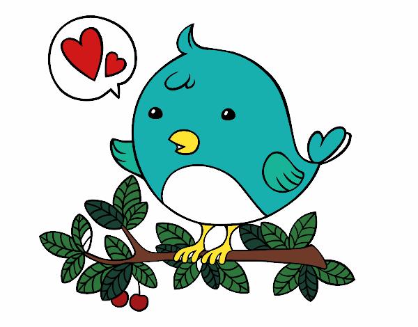Dibujo Pájaro de Twitter pintado por albabm24