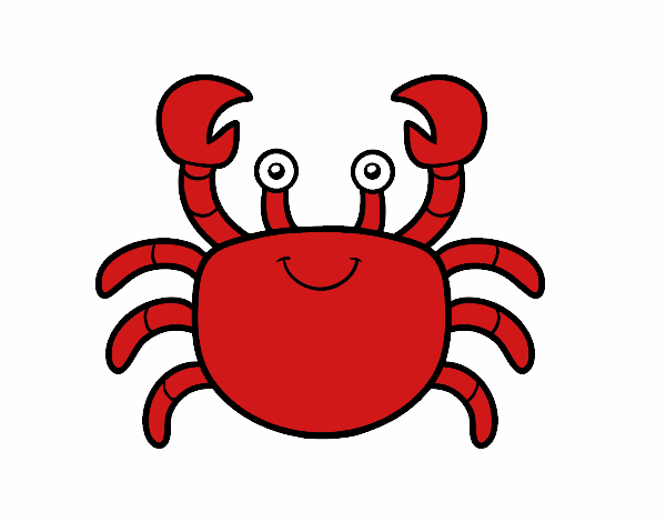 Dibujo Un cangrejo de mar pintado por albabm24