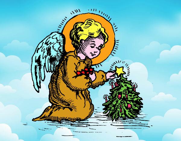 ese  es un  angel  navideño
