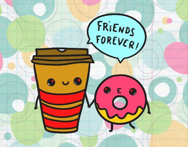 Dibujo Café y donut pintado por andreina08