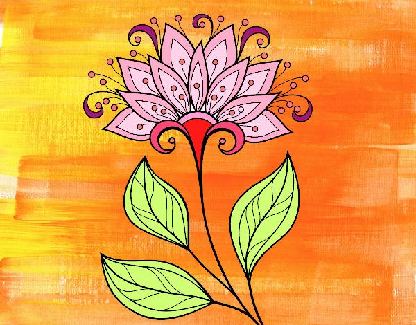 Dibujo Flor decorativa pintado por Lorelai
