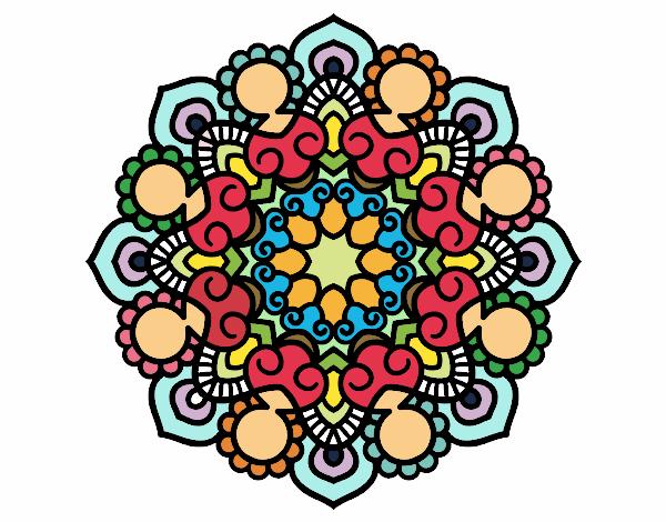Dibujo Mandala reunión pintado por Elisa2006