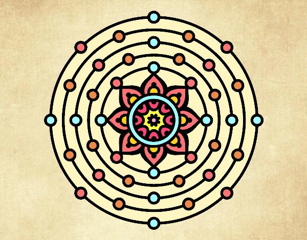Dibujo Mandala sistema solar pintado por Elisa2006