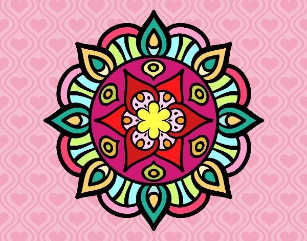 Dibujo Mandala vida vegetal pintado por andreina08