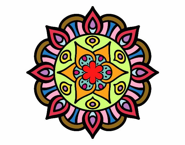 Dibujo Mandala vida vegetal pintado por Elisa2006
