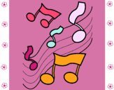 Notas en la escala musical