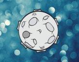 Planeta con cráteres