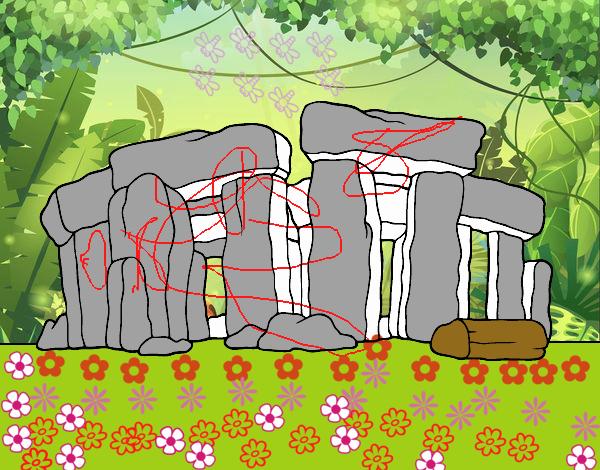 Dibujo Stonehenge pintado por popida