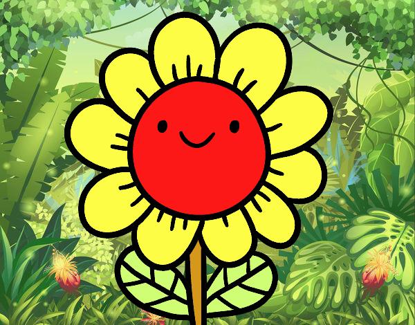 Dibujo Una flor sonriente pintado por Lorelai