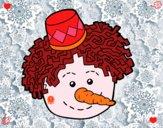 Cara de muñeco de nieve
