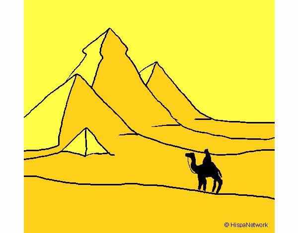 Paisaje con pirámides