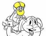 Rey Baltasar en elefante