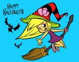 Una brujita de Halloween