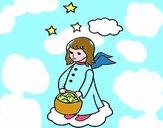 Ángel con cesta