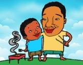 Barbacoa con papá