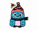 Búho de Navidad