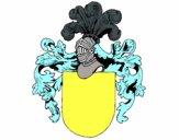 Escudo de armas y casco