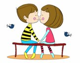 Jóvenes enamorados