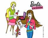 Barbie y su hermana merendando