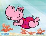 Decathlon - Hipopótamo nadador