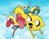 Finn y Jake con la Princesa Chicle