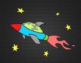 Nave cohete espacial