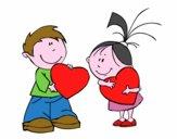 Niños en San Valentín