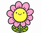 Dibujo Una flor sonriente pintado por Luciaa99
