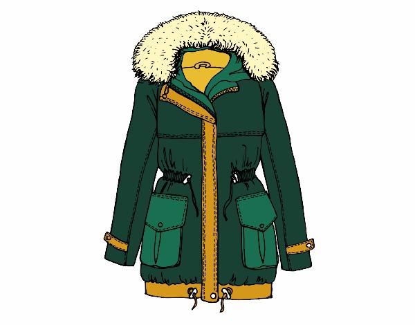 Dibujo Abrigo de invierno pintado por albabm24