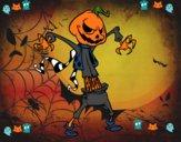 Calabaza de Halloween monstruosa