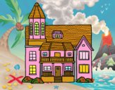 Casa de dos pisos con torre